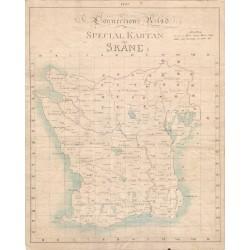 Skånska Rekognoseringskartan 1821 för Disgen