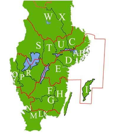 Generalstabskartor för Disgen: Södra länen i Sverige